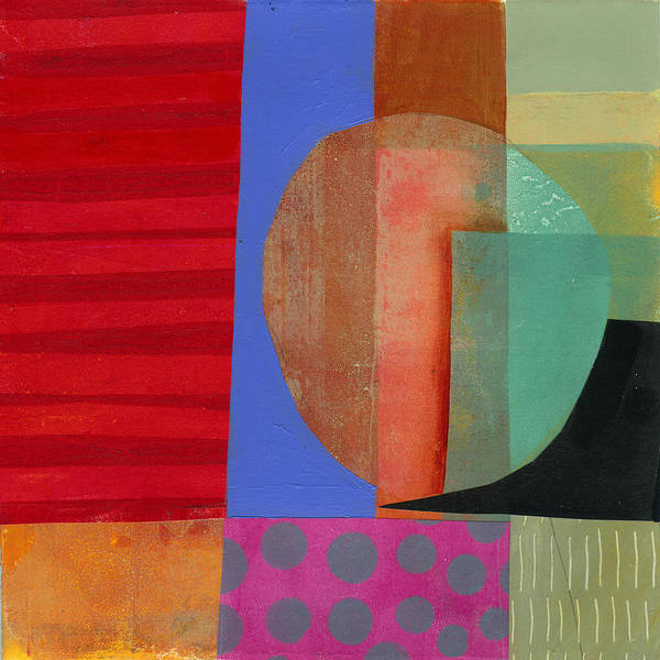 Shapes Painting - Grid Print 15 by Jane Davies