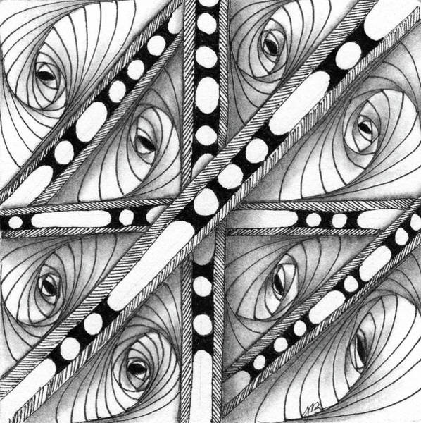 Drawing - Gridlock by Jan Steinle