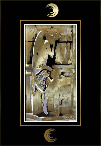 Painting - Grief Angel - Black Border by Larry Talley
