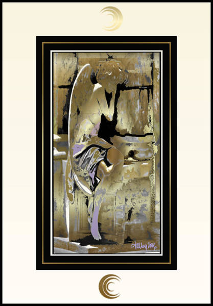 Painting - Grief Angel - Light Border by Larry Talley