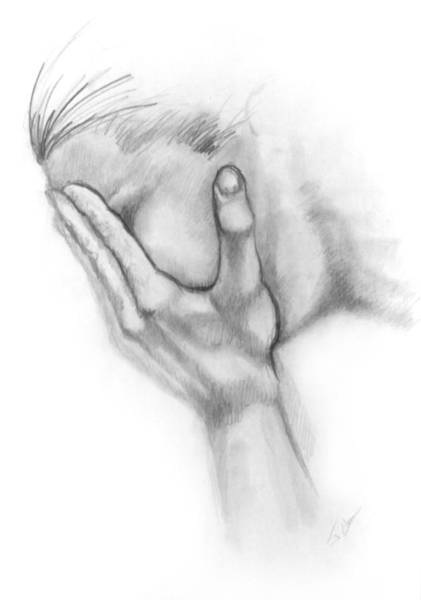 Drawing - Grief by John Clum