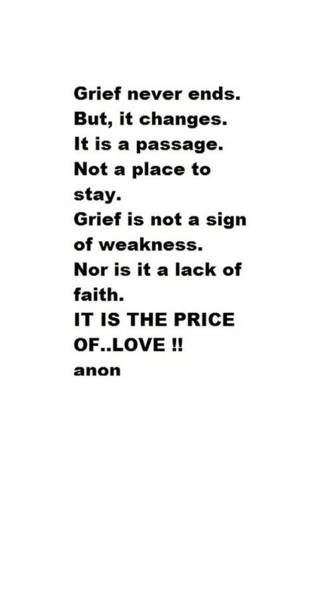 Photograph - Grief by VIVA Anderson
