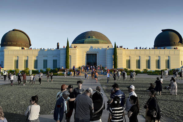 Photograph - Griffith Observatory On A Typical Sunday Afternoon 2017 by Glenn McCarthy Art and Photography