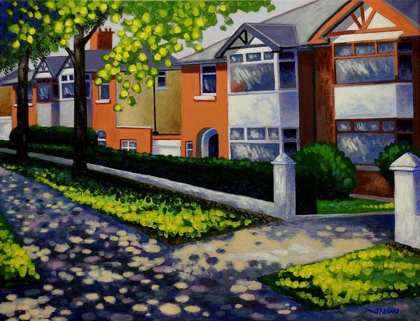 Avenue Painting - Griffith Avenue In The Sun  by John  Nolan