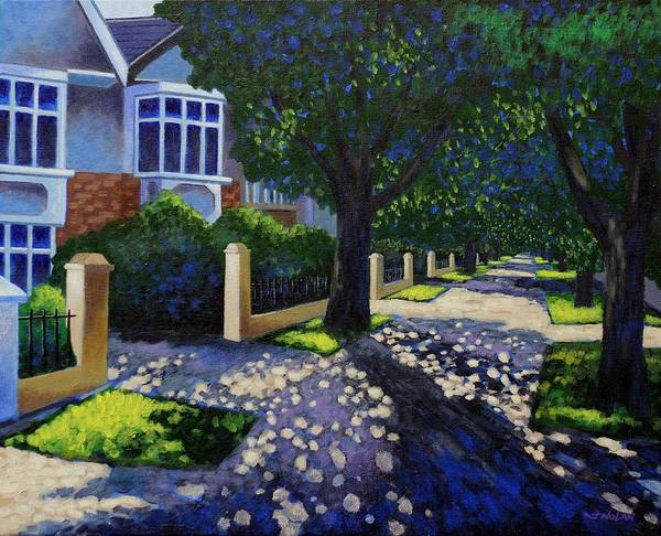 Wall Art - Painting - Griffith Avenue Through The Trees by John  Nolan