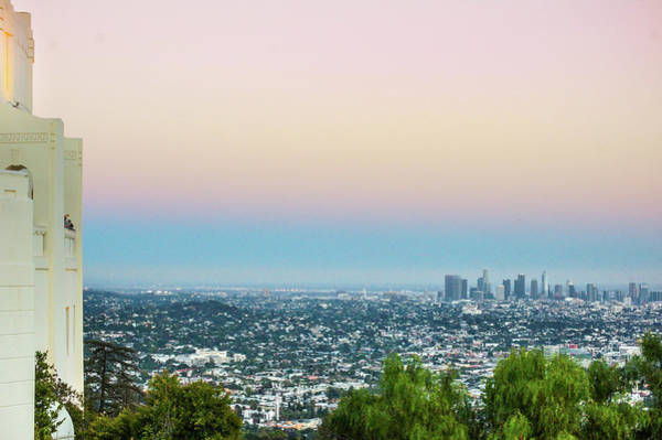 Wall Art - Photograph - Griffith Observatory And The Los Angeles Skyline At Sunset by Art Spectrum