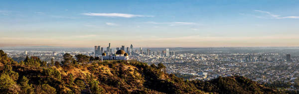 Photograph - Griffith Observatory - Panorama by Gene Parks