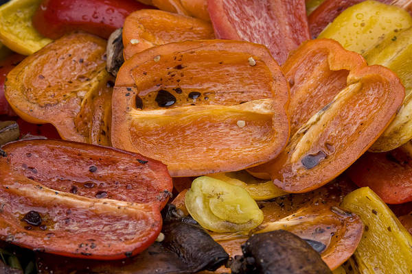 Photograph - Grilled Roasted Red Bell Peppers by James BO Insogna