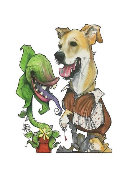 Pet Portrait Drawing - Grimm 3173 by John LaFree