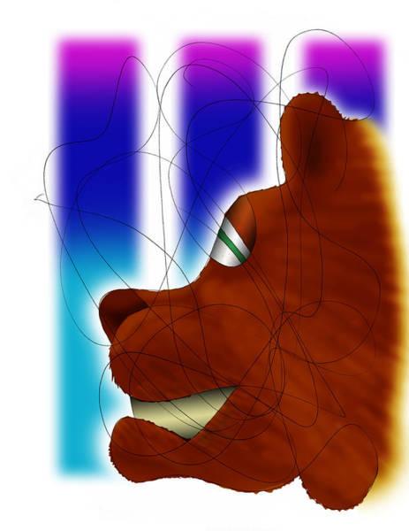 Digital Art - Grin And Bear It by Ismael Cavazos