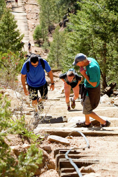 Photograph - Grinding It Out On The Manitou Incline And Barr Trail by Steve Krull