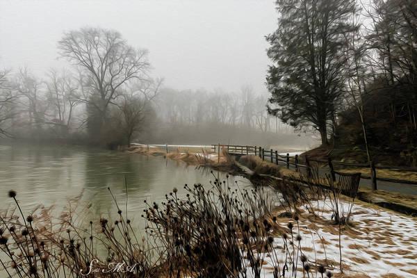 Tulpehocken Creek Photograph - Grings Mill Fog 18-027 by Scott McAllister