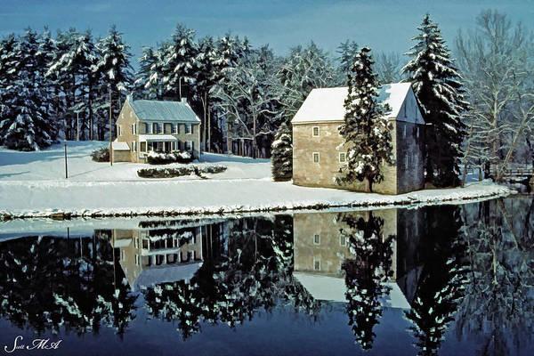 Tulpehocken Creek Photograph - Grings Mill Snow 90-001 by Scott McAllister