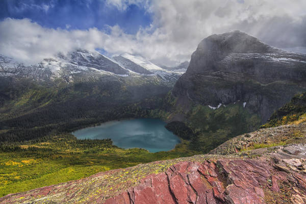 Photograph - Grinnell Lake Overlook by Mark Kiver
