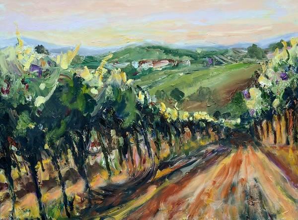 Painting - Grinzing Vineyard by Donna Tuten