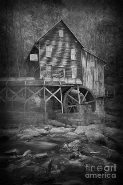 Photograph - Grist Mill At Babcock Park With Stream by Dan Friend