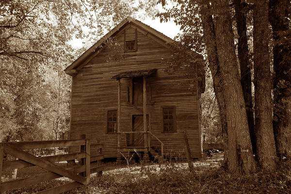 Wall Art - Photograph - Grist Mill At Boxley Sepia by John Myers