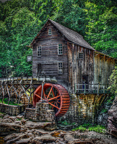 Mill Shoals Falls Wall Art - Digital Art - Grist Mill by Dan Stone