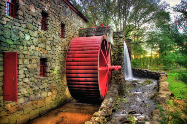 Photograph - Grist Mill In Autumn by Joann Vitali