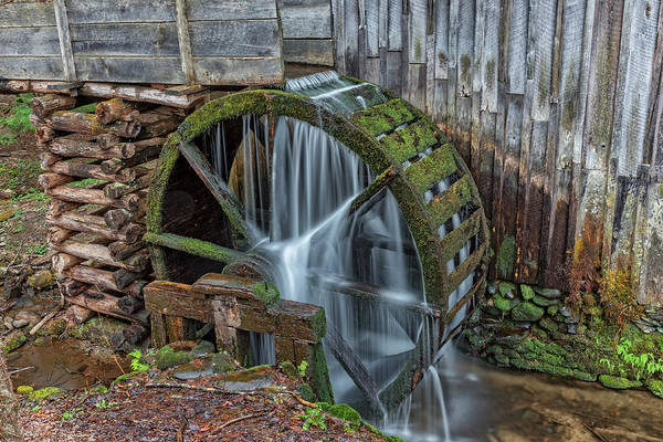 Photograph - Grist Mill Water Wheel In Cades Cove by Jim Vallee