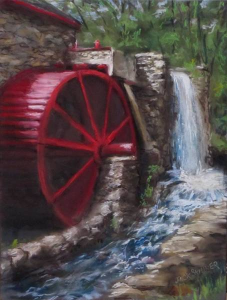Wall Art - Painting - Gristmill by Jack Skinner