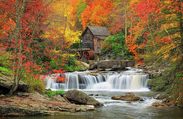 Grist Mill Photograph - Old Mill In Color  by Emmanuel Panagiotakis