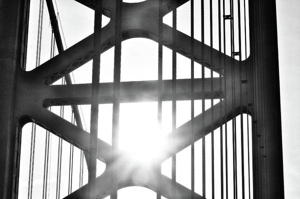 Wall Art - Photograph - Gritty Philadelphia - Sunrise Through The Ben Franklin Bridge by Bill Cannon