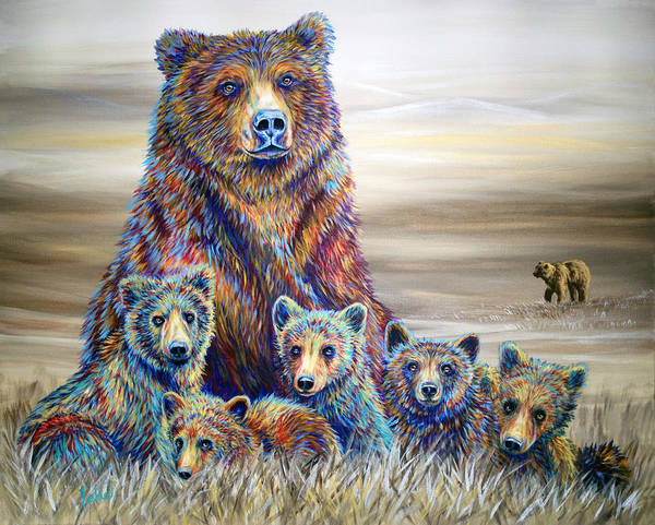Twins Painting - Griz Country by Teshia Art