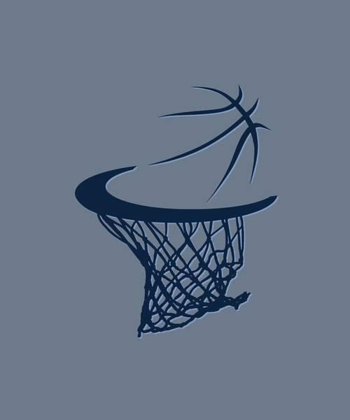 Memphis Grizzlies Wall Art - Photograph - Grizzlies Basketball Hoop by Joe Hamilton