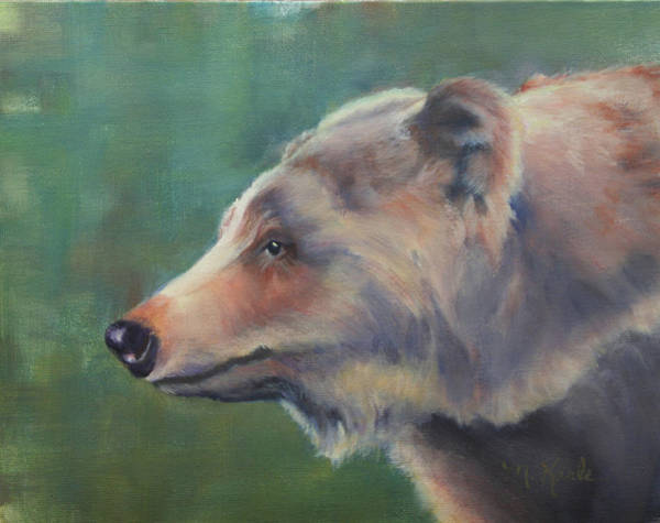 Painting - Grizzly Bear Portrait by Marsha Karle