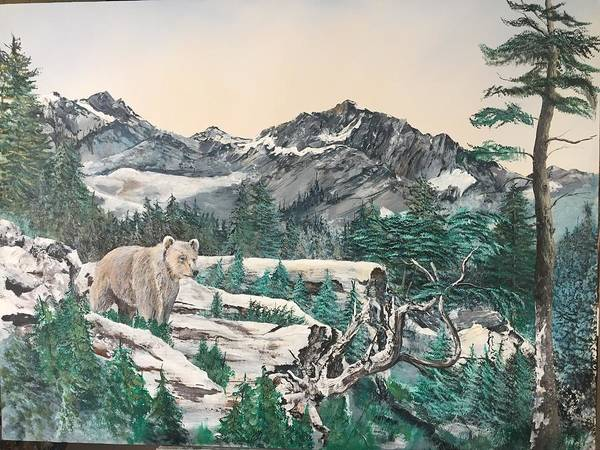 Wall Art - Painting - Grizzly by Wm Garcia