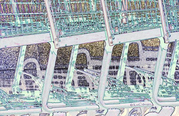 Wall Art - Digital Art - Grocery Carts 2 by Kae Cheatham