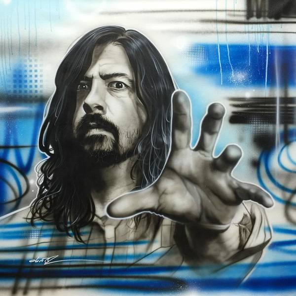 Foo Fighters Wall Art - Painting - Grohl Fighters by Christian Chapman Art