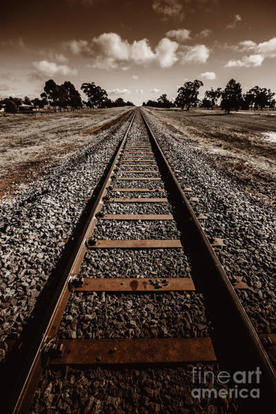 Wall Art - Photograph - Grong Grong Train Track by Jorgo Photography - Wall Art Gallery