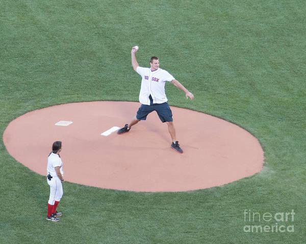 Gronkowski Photograph - Gronkowski 1st Pitch by Steven Natanson