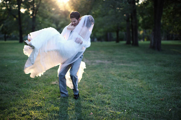 Wall Art - Photograph - Groom Carrying Bride - F by Gillham Studios
