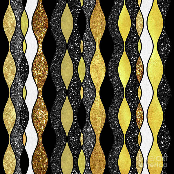 Gold Digital Art - Groovy, Baby Modern Take On A Retro 1960s Design by Tina Lavoie