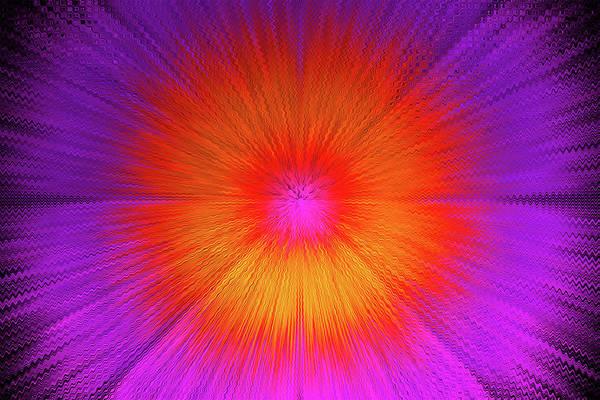 Purple Haze Digital Art - Groovy Digital Tie Dye by David Stasiak