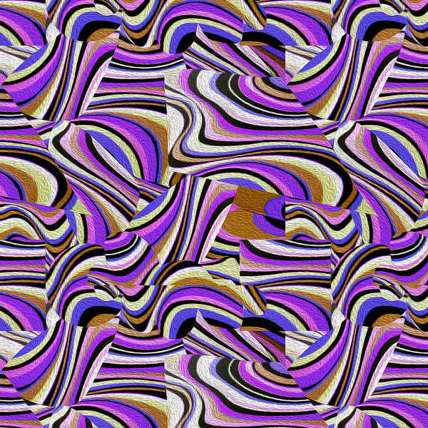 Groovy Mixed Media - Groovy Retro Renewal - Purple Waves by Gravityx9 Designs
