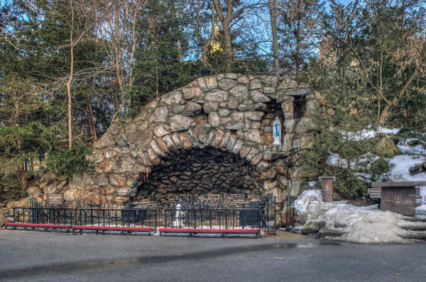 Photograph - Grotto At Notre Dame University by Jerry Gammon