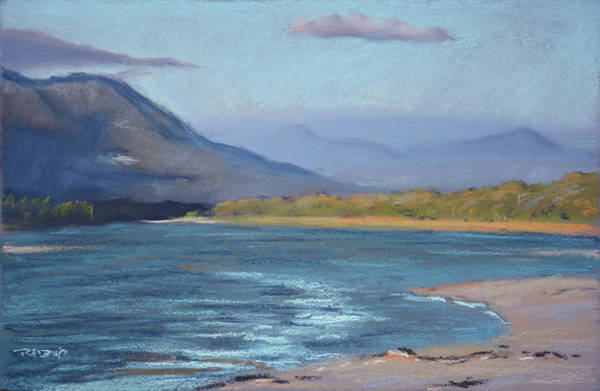 Painting - Grotto Beach Lagoon by Christopher Reid