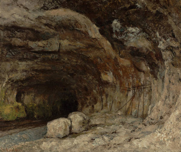 Painting - Grotto Of Sarrazine Near Nans-sous-sainte-anne by Gustave Courbet