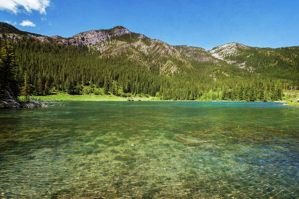 Grottos Photograph - Grotto Pond Canmore Alberta by Joan Carroll