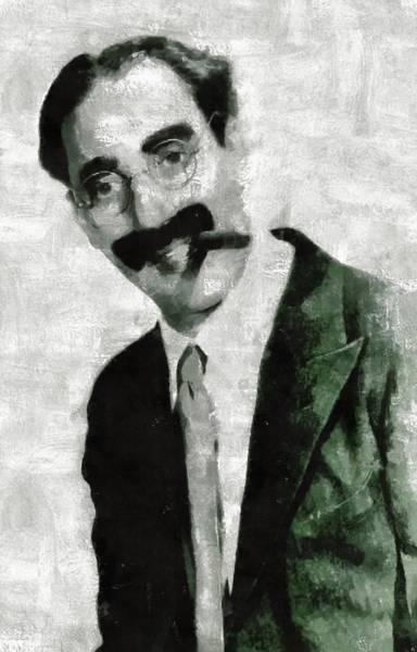 Pinewood Painting - Groucho Marx by Mary Bassett