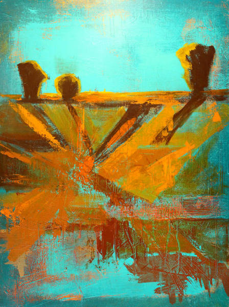 Umber Painting - Ground Elements by Nancy Merkle