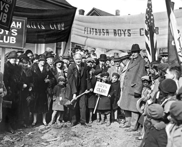Wall Art - Photograph - Groundbreaking Ceremony by Underwood Archives