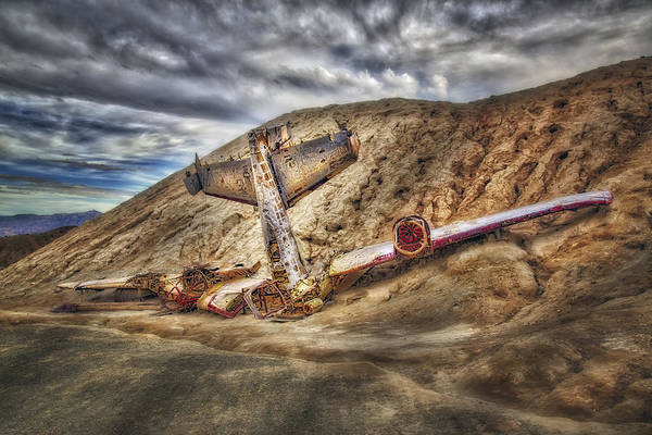 Photograph - Grounded Plane Wreck by Susan Candelario