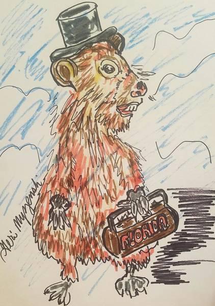 Groundhog Painting - Groundhog Day by Geraldine Myszenski