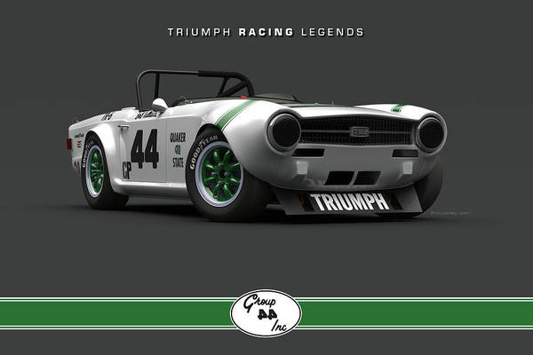 Wall Art - Digital Art - Group 44 Tr6 Low Front Quarter by Pete Chadwell