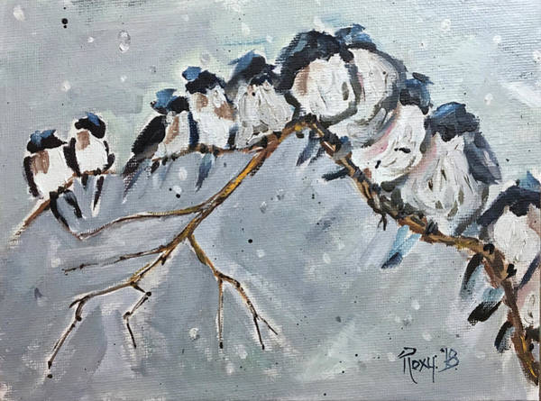 Blue Painting - Group Hug by Roxy Rich